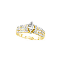14k Yellow Gold Marquise Diamond Solitaire Bridal Wedding Engagement Rin... - $1,980.00