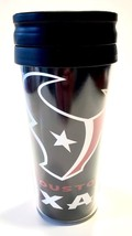 HOUSTON TEXANS MUG CUP TRAVEL TUMBLER COFFEE NFL 14 OZ INSULATED  WITH LID - $9.98