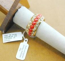Valitutti Gems EN Vogue Red Coral Eternity Band Ring Silver Palladium 10... - $225.00