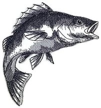 Nature's Bounty Beautiful Custom Fish Sketch[Yellow Perch Fish ] Embroid... - $6.92