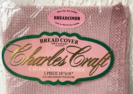 """Charles Craft Bread Cover 14 Count Aida Cross Stitch Fabric - Ash Rose 18"""" x 18"""" - $13.25"""