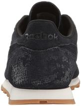 Reebok Women's CL LTHR Clean Exotic Print Track Shoe, image 3