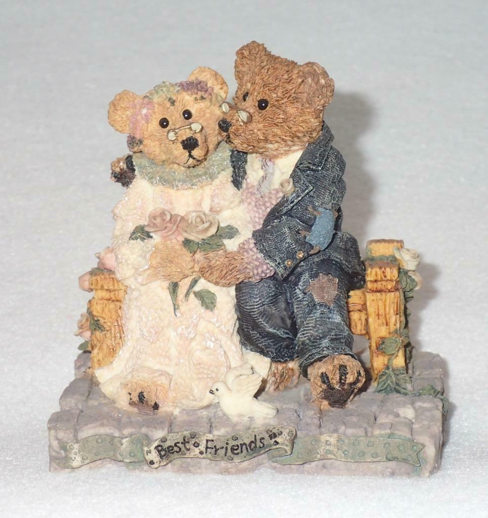 Boyd Bearstone Resin Bears Grenville & Beatrice Best Friend Figurine #2016