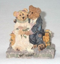 Boyd Bearstone Resin Bears Grenville & Beatrice Best Friend Figurine #2016 - $9.46