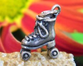 Vintage Roller Skate Boot Laces Bracelet Charm Pendant Sterling Silver - $12.95