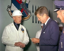 President John F. Kennedy receives gift at Vandenberg AFB New 8x10 Photo - $8.81