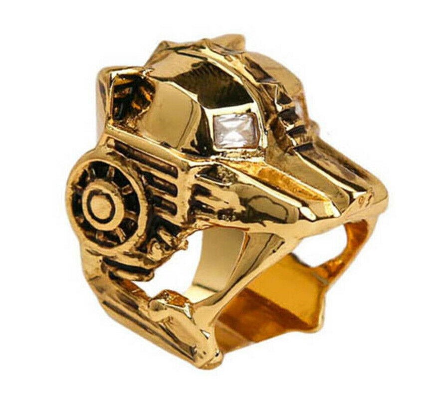 Han Cholo Gold Plated Lioness CZ Eyes Ring Size 7 NEW