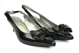 Bandolino Freeport Women's Black Slingback Bow Closed Toe Heeled Size 7.5 - $25.25