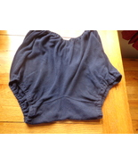 vintage navy blue cotton school knickers in a large size - $48.00