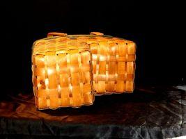Double Handled Swing Basket Handmade AA19-1577 Vintage image 8