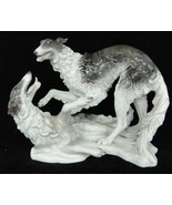 Rosenthal Borzoi Dogs Figurine #1599 Group by Heidenreich Russian Wolfho... - $282.14