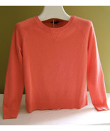 NEW! Theory Salmon Pink Crewneck 100% Cashmere Sweater Coral Jumper P S ... - $154.44