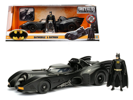 1989 Batmobile with Diecast Batman Figure 1/24 Diecast - $42.99