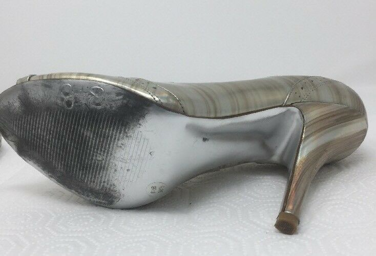 Jessica Simpson NICHOLA Metallic Booties heels Iridescent Patent leather 8.5 image 8