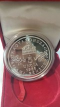 Y3 Hungary 1986 Silver 5 Oz. 5 Uncia Madonna & Child Proof w/ BOX No COA Rare image 1