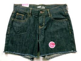NWT Old Navy Women's The Flirt Jean Shorts Size 2 Solid Blue Raw Hem - $19.80