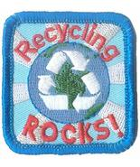 Cub Girl Boy RECYCLING ROCKS Embroidered Iron-On Fun Patch Crests Badge Scout Gu - $4.70