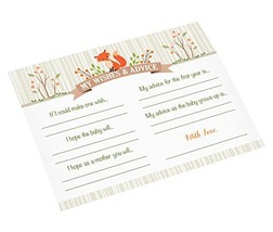 "Lillian Rose Woodland Baby Shower Wishes Cards, Neutral, 5.5"" x 4.25"" - $9.04"