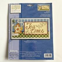Janlynn TEA TIME Counted Cross Stitch Kit Kettle Pot Shop Decor Sign - $4.95