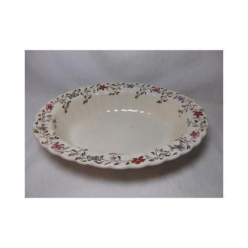 "Copeland Spoke WICKER DALE SERVING BOWL dish 10.25"" England vtg dinnerware - $49.49"