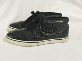 Vans Black Croc Pattern Chukka Boot LX Men 8 Women 9.5 Original Box IOB Shoe image 2