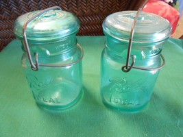 "Great Collectible Set 2 BLUE Bicentennial ""BALL"" Ideal JARS -1 PINT size - $13.93"