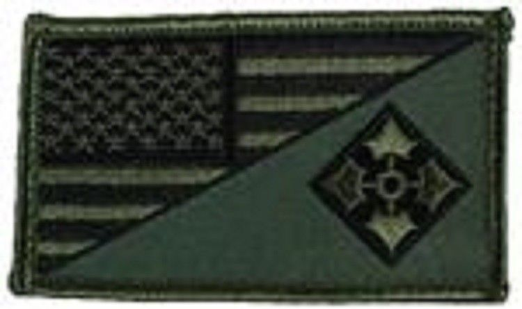 Primary image for ARMY 4TH INFANTRY OD GREEN FLAG 2 X 3  EMBROIDERED PATCH WITH HOOK LOOP