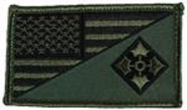 ARMY 4TH INFANTRY OD GREEN FLAG 2 X 3  EMBROIDERED PATCH WITH HOOK LOOP - $23.74