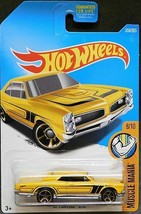 HOT WHEELS 2017 '67 PONTIAC GTO YELLOW COLOR MUSCLE MANIA 359/365 - $4.95
