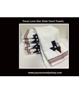 "Texas Lone Star State Hand Towel 24"" x 15"" 100% Cotton Soft Plush Set of 2 - $12.99"