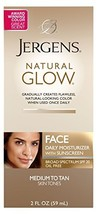 Jergens Natural Glow Healthy Complexion Daily Facial Moisturizer for Medium to T