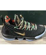 Mens Nike LeBron 16 Watch The Throne Black Metallic Gold Rose Frost CI15... - $695.00