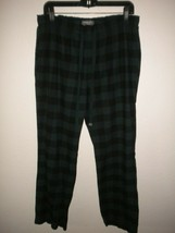 Eddie Bauer Women Medium Plaid Elastic Drawstring Women Flannel Pajama P... - $15.83