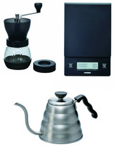 Hario V60 Series, 1.2 Liter Kettle, Scale & Coffee Mill - Coffee Brewing... - $130.67