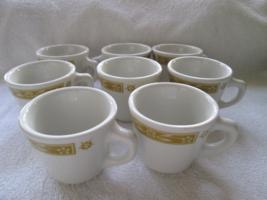 Sterling Vitrified China, Ohio, USA, restaurant ware, 8 cups/mugs, musta... - $50.00