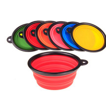 New Collapsible foldable silicone dog bowl candy color  food container f... - $7.55