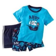 "Carter's ""Ahoy"" Monkey Pirate Set(3pcs)-Toddler/Infant-12 Months-NEW - $14.99"