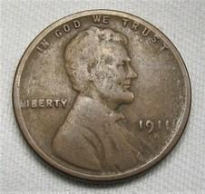 1911-S Lincoln Wheat Cent CH GOOD Coin AE474 - $33.80