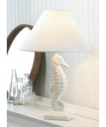 WHITE SEAHORSE Table Lamp Coastal Nautical Decor - $44.89