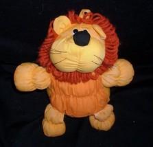 Vintage 1986 applause pufflet orange yellow lion baby stuffed animal toy - $23.01