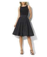 $198 Lauren Ralph Lauren Pleated Cocktail Dress Black 8 - $140.57