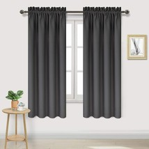 DWCN Dark Grey Room Darkening Blackout Curtains - Thermal Insulated Priv... - $29.16+