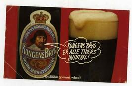 vintage DANISH BEER SIGN KONGENS BRYG bar - $14.95