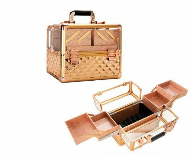 Aluminum Makeup Cosmetic Beauty Organizer Lockable Storage Travel Train Case New - $74.95