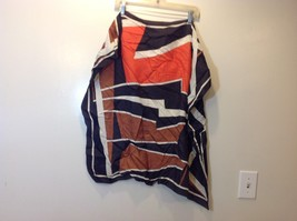 Multicolor Square Geometric Abstract Patterned Scarf image 2