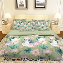 3D Crane Bloom Lotus 26 Bed Pillowcases Quilt Duvet Single Queen King US Summer - $102.84+