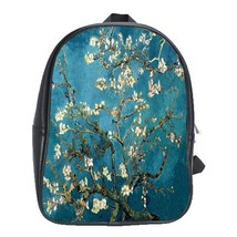 Backpack School Bag School Bag Flowers Beautiful Nature Paint Of Vincent... - $33.00