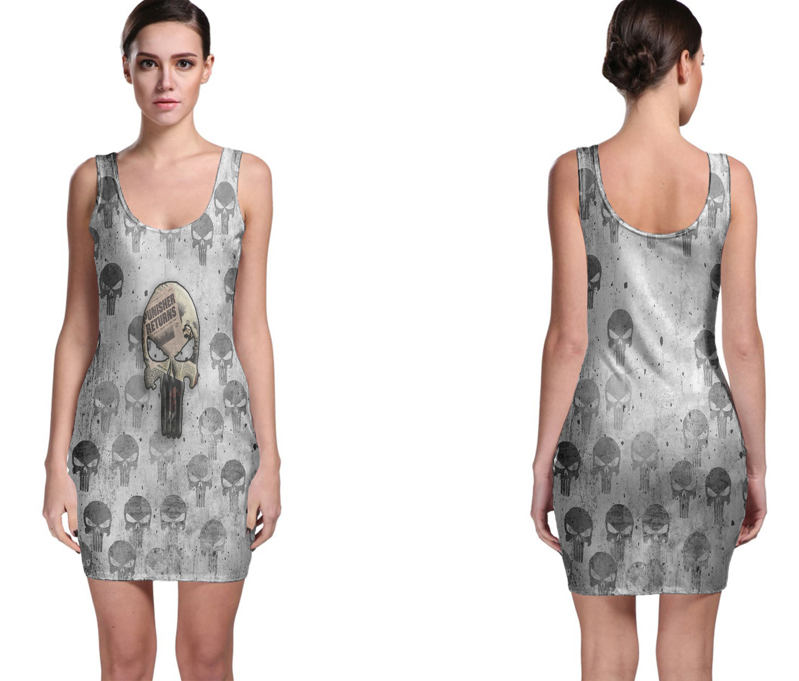 The Punisher Hot News Bodycon Dress