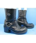 Harley Davidson Womens Black Logo Boots Size 7.5  (81026) - $54.88