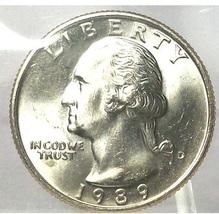 1989-D Washington Quarter In the Cello MS65 #712 - $5.59